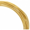 Aluminum Wire 12ga (2.5mm) 30ft Round Gold
